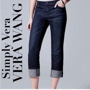 🍃🖤🆕 Vera Wang Roll Cuff Capri Denim Jeans